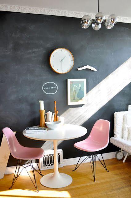 pale pink modern chair
