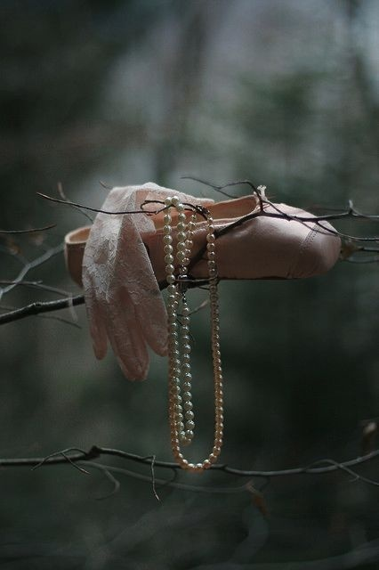 ballet slippers in the forest