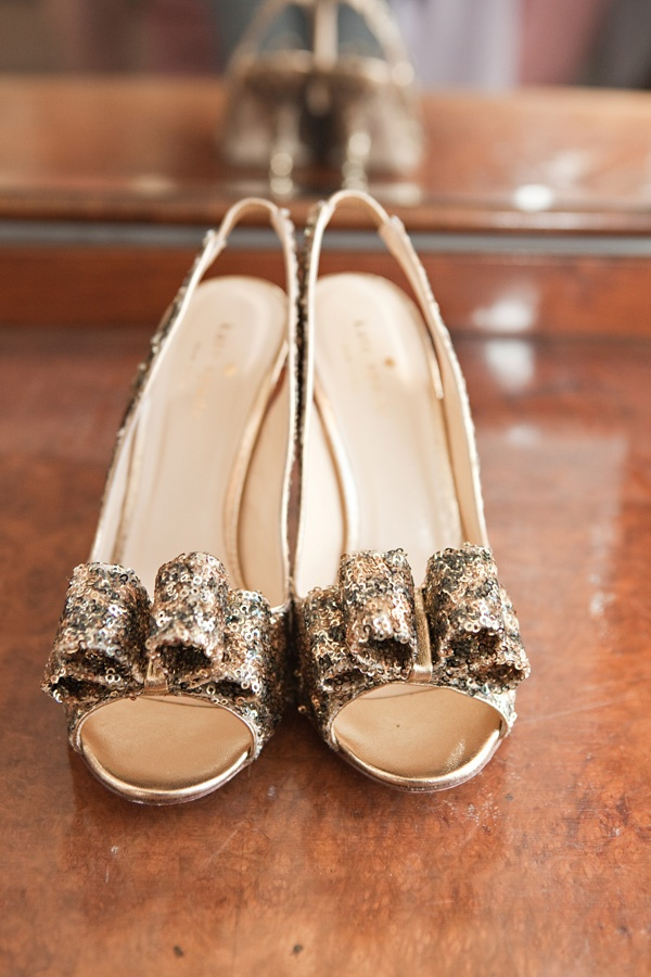 Kate Spade gold wedding shoes