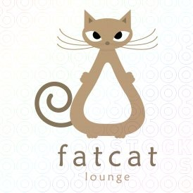 Fat Cat Logo logo