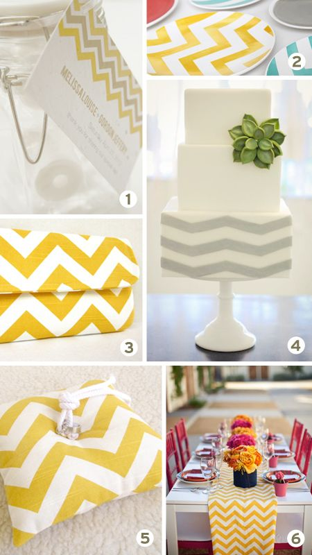 Chevron wedding inspiration board. I can't get enough of this beautiful pattern. (Ummm...and yellow) Keywords: #chevronweddings #chevronweddinginspirationboard  #inspirationandideasforchevronthemedweddingplanning #jevel #jevelweddingplanning Follow Us: www.jevelweddingplanning.com www.pinterest.com/jevelwedding/ www.facebook.com/jevelweddingplanning/ https://plus.google.com/u/0/105109573846210973606/ www.twitter.com/jevelwedding/