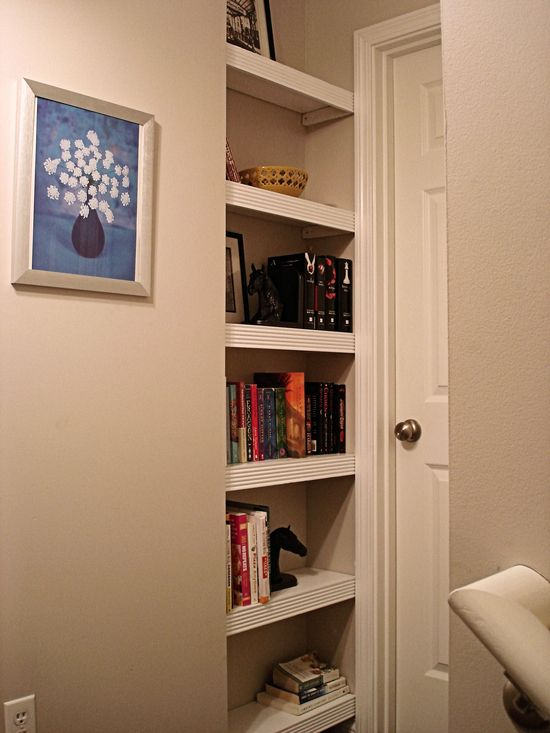 book nook .. perfect for a tiny unused space