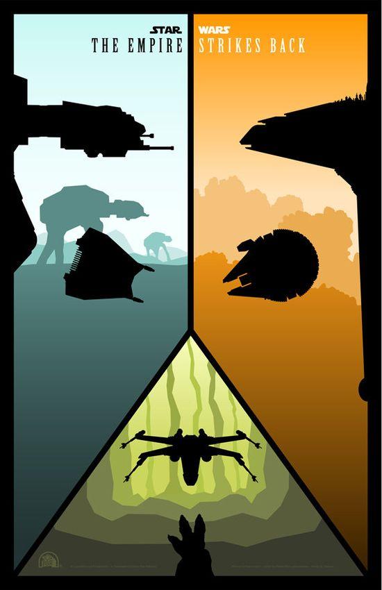 Cool Star Wars Ep V alt poster