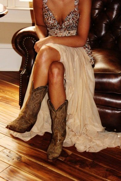 Texas Style aka my prom outfit way back before boots with dresses was the cool thing to do