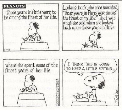 Peanuts/Editing