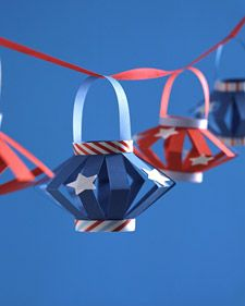 Fourth of July...Red, white and blue lanterns