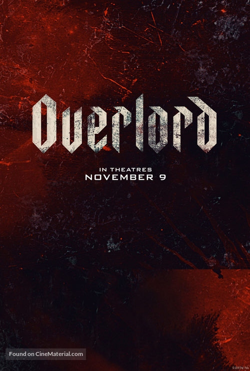 Overlord (2018) movie poster