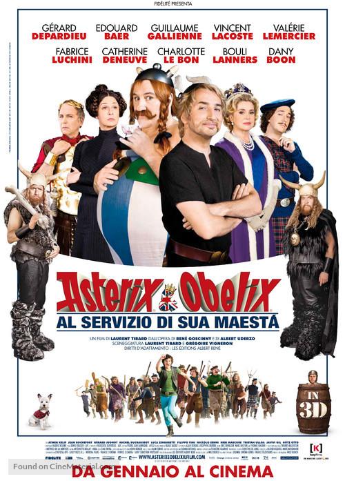 Astérix Et Obélix : Au Service De Sa Majesté : astérix, obélix, service, majesté, Astérix, Obélix:, Service, Majesté, (2012), Italian, Movie, Poster