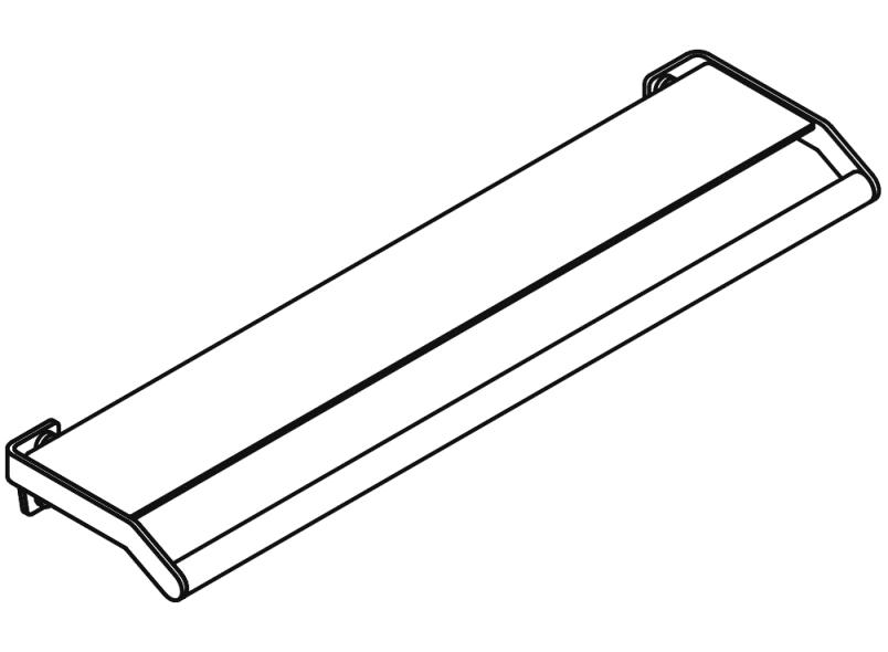 HEWI Shelf with grab bar 900.03.000XA