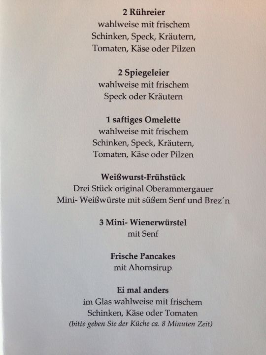 Frhstckskarte Hotel Maximilian Oberammergau