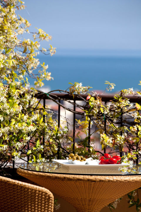 Vista terrazza colazioni Best Western Villa Maria Hotel