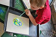 Ping Pong Ball Blow Painting