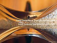 User interface design in practice - University of Auckland Business School