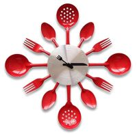 Best Red Kitchen Wall Clocks: Large, Retro, Red Apple and ...