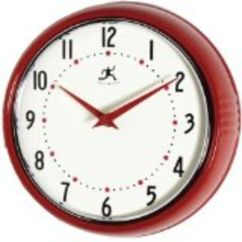 Retro Kitchen Wall Clock Paint Suggestions For Best Red Clocks Large Apple And