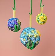 Famous Artists Inspired Christmas Ornaments and Greeting Card Ideas | Starry Night Ornaments on crayola.com