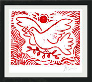 Famous Artists Inspired Christmas Ornaments and Greeting Card Ideas | Pablo Picasso Original Hand-Signed Limited Edition Linocut Print with COA