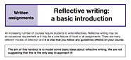 Reflective writing: A basic overview