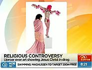 Uproar over religious artwork - watch now