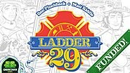 Ladder 29: Ladder climbing firefighters extinguishing cards.