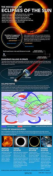 Solar Eclipses: An Observer's Guide (Infographic)