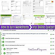 How to Turn Worksheets into Online Content   Hot Lunch Tray
