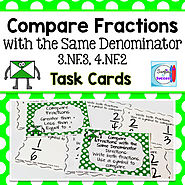 Compare Fractions with the Same Denominator by Mercedes Hutchens