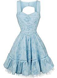 Through The Looking Glass - Alice Classic Dress   Alice in Wonderland Medium-length dress   EMP