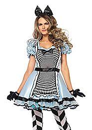 Leg Avenue Women's Hypnotic Miss Alice Costume, Blue/Black, Medium