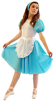 Details about ALICE IN WONDERLAND Budget Alice Fancy Dress Costume ALL AGES