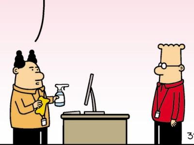 Dilbert, Peanuts und Co.: Desaströse Desinfektion