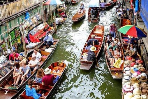Image result for Damnoen Saduak Floating Market