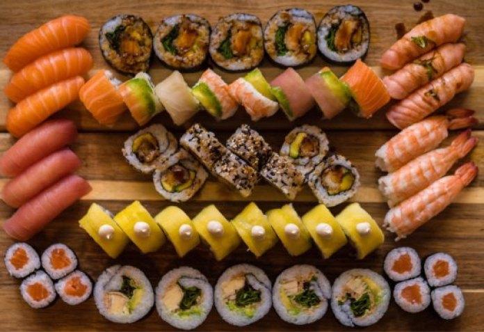 Image result for dinner sushi