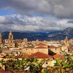 palermo skyline from ambasciatori roof top terrace