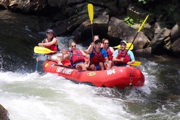 Nantahala Rafting with Adventurous Fast Rivers