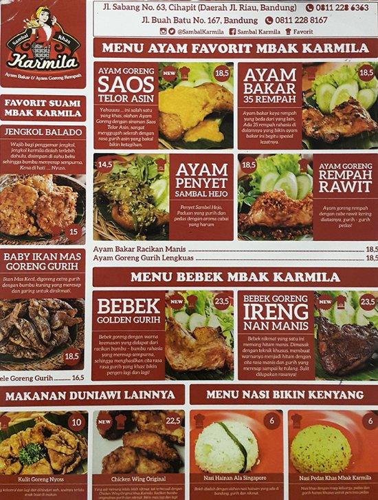 Menu Sambal Karmila : sambal, karmila, Getlstd_property_photo, Picture, Sambal, Karmila,, Bandung, Tripadvisor
