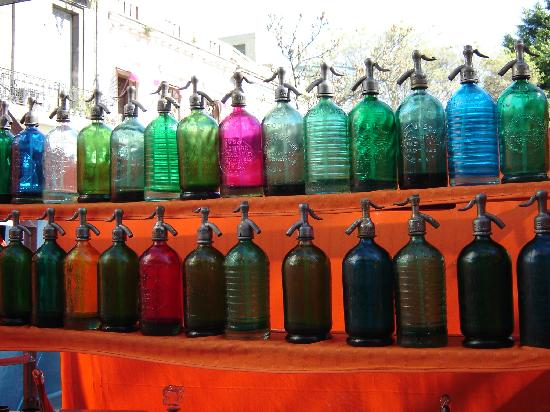 Antique Soda Bottles at the San Telmo Market  Picture of