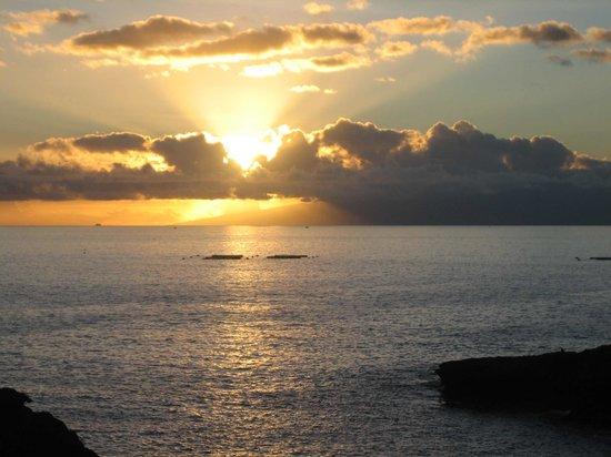 Sunset view over to Gomrera