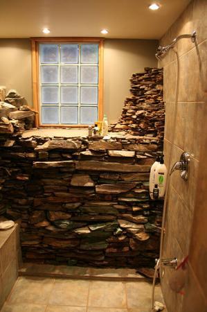 rock shower in Zen Suite  Picture of Between Friends Bed