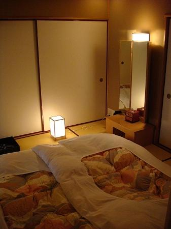 the futon in the bedroom at night - picture of hotel gajoen tokyo