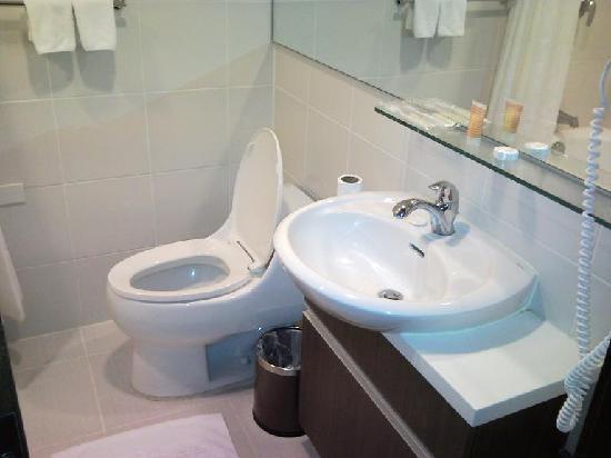 Small bathroom  Picture of The AVenue Hotel Makati  TripAdvisor