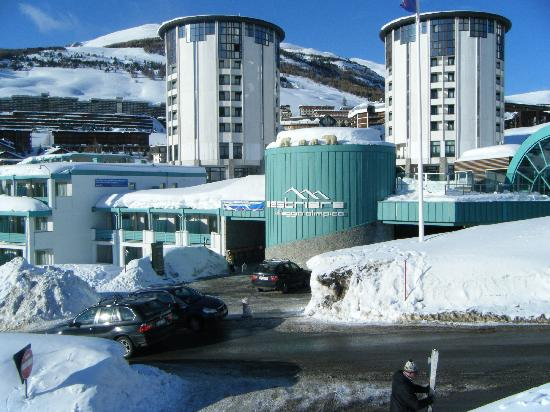 Front Of Hotel Taken From Ski Lift Picture Of Th Sestriere
