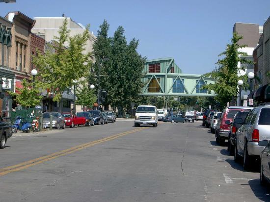 Downtown Iowa City - business is still good
