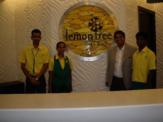 Staff At Reception Picture Of Lemon Tree Hotel Chennai