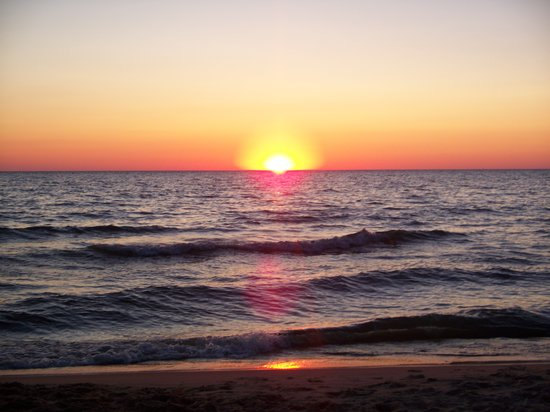 Sunset on Oval Beach  Picture of Michigan United States