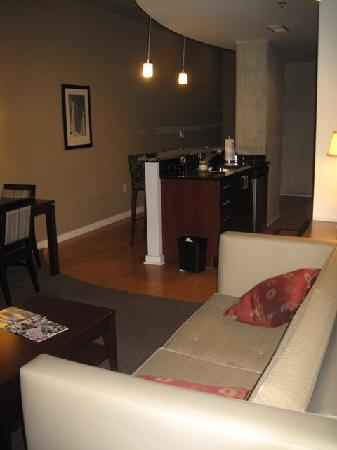 hotels with kitchens in atlanta ga island for kitchen sale view of living room area and connect picture twelve midtown autograph collection