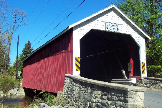 One of many historic covered bridges  Picture of