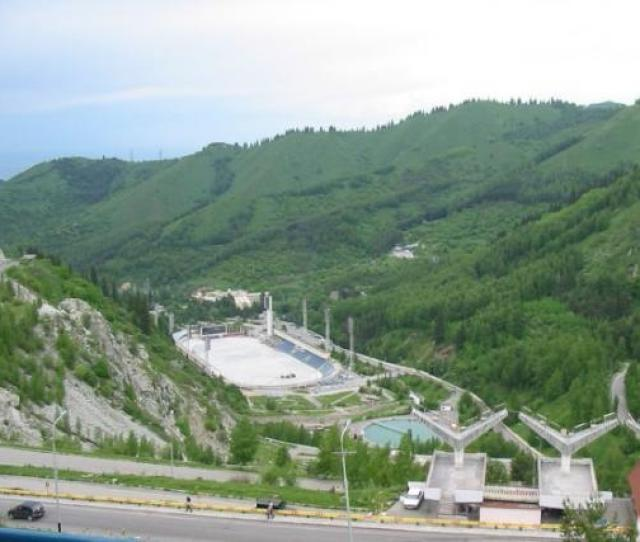 Almaty Kazakhstan Medeo Is The Largest In The World High Mountain Skating Rink