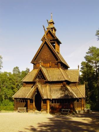 Norway old wooden church  Picture of The Norwegian