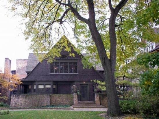 Oak Park Bike Tour  Picture of Frank Lloyd Wright Home